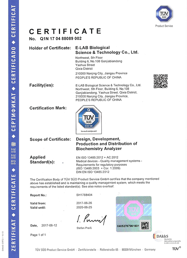 Medical devices quality management system ISO 13485